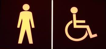 Toilet symbols Royalty Free Stock Image