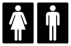 Toilet symbols simple Stock Photography