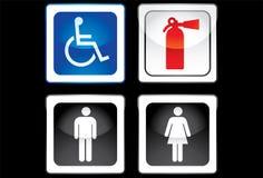 Toilet-teken royalty-vrije stock afbeelding