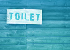 Toilet text sign royalty free stock photography
