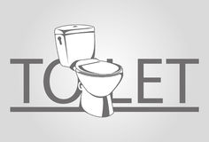 Toilet. Vector symbol for toilet. Graphic sign for public toilet stock illustration