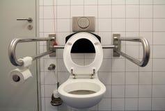 Toilet voor gehandicapten stock afbeeldingen