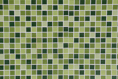 Free Toilet Wall Of Made Of Different Hues In Green Tiles. Stock Image - 73105841