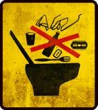 Toilet warning sign Stock Image