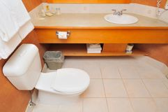 Toilet and washing area Royalty Free Stock Image