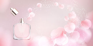 Toilet water perfume bottle vector illustration Royalty Free Stock Image