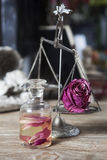 Toilet water with slices of roses Royalty Free Stock Photo