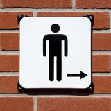 WC sign gentleman, boys and man. Toilet or WC direction sign for man and boys royalty free stock photo