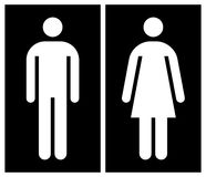 Toilet, wc, restroom sign. In black and white Royalty Free Stock Images
