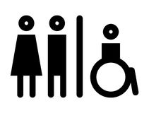 Toilet, wc, restroom sign Stock Photography