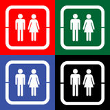 Toilet, wc, restroom sign vector (EPS10) Stock Photography