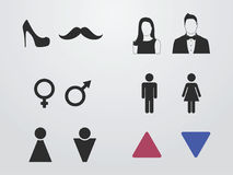 Toilet, wc sing icons Royalty Free Stock Images