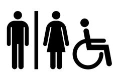 Toilet, WC, toiletteken Stock Foto's