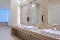 Toilet. White toilet in a hotel Royalty Free Stock Image