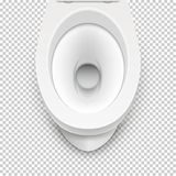 Toilet white mockup illustration isolated. Toilet in clean bathroom. Vector home hygiene.  royalty free illustration