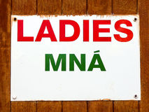 Toilet for women. Ladies - Mna Royalty Free Stock Photography