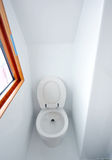 Toilet in yacht. A view of a toilet in yacht Royalty Free Stock Photos