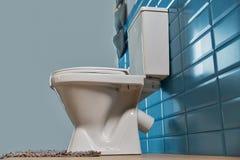 Toiletkom in de badkamers Stock Foto