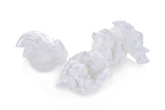 Toiletpapierballen op wit worden geïsoleerd dat stock foto