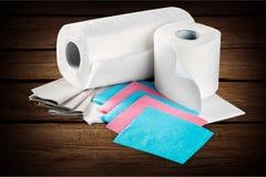 Toiletpapieren royalty-vrije stock afbeeldingen
