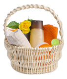 Toiletries in backet Stock Photography