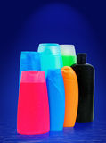 Toiletries bottles Royalty Free Stock Photo