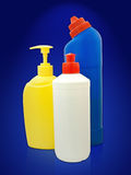 Toiletries bottles Royalty Free Stock Photography
