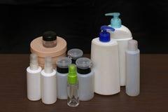Toiletries bottles Stock Photos