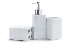 Toiletries Dispenser And Containers Royalty Free Stock Photo