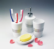 Toiletries Kit Set Stock Images