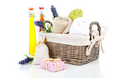 Toiletries for relaxation Royalty Free Stock Image