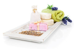 Toiletries for relaxation Royalty Free Stock Images