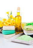Toiletries for relaxation Royalty Free Stock Photo