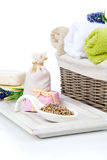 Toiletries for relaxation Stock Photography