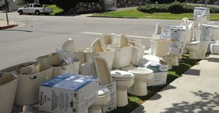 Toiletrij Royalty-vrije Stock Afbeelding