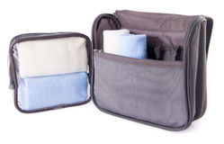 Toiletry bag on a background Stock Images