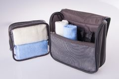 Toiletry bag on a background. Toiletry bag on the background Stock Images