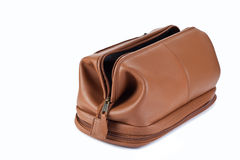 Toiletry bag. Isolated in white Stock Photo