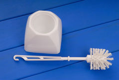 Toiletry brush for toilet bowl Royalty Free Stock Images