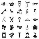 Toiletry icons set, simple style stock illustration