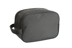 Toiletry kit. Black nylon toiletry kit with handle Royalty Free Stock Images