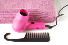 Toiletry in pink Stock Photography