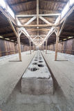 Toilets in the  Auschwitz II-Birkenau Stock Photo