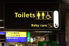 Toilets and Baby Care Stock Images
