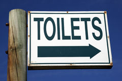 Toilets direction sign Stock Photography