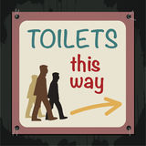Toilets Sign Royalty Free Stock Photography