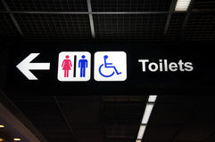 Toilets sign Stock Photo