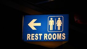 Toilets Sign board at pub stock footage