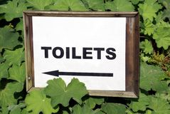 Toilets sign Royalty Free Stock Images