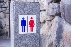 Toilets sign Stock Photos